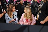 Gigi Hadid backstage at the 2015 New York Victoria