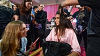 Lais Ribeiro backstage at the 2015 New York Victor