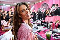 Alessandra Ambrosia backstage at the 2015 New York