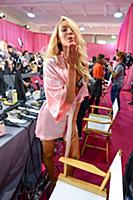 Candice Swanepoel backstage at the 2015 New York V