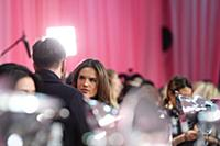 Alessandra Ambrosia backstage at the 2015 New York