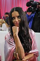 Adriana Lima backstage at the 2015 New York Victor