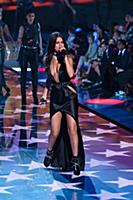 Selena Gomez on the runway during the 2015 New Yor