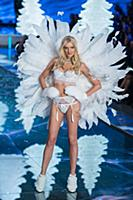 Lily Donaldson on the runway during the 2015 New Y