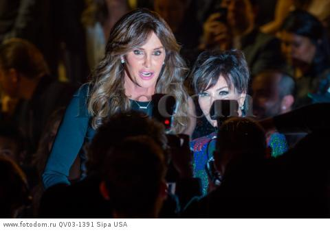 Caitlyn Jenner and Kris Jenner at the 2015 New York VictoriaХs Secret Fashion Show held at the Lexington Armory in New York City on November 10, 2015. (Photo by Anthony Behar) *** Please Use Credit from Credit Field *** *** Please Use Credit from Credit Field ***
