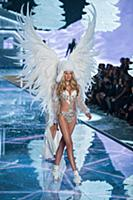 Elsa Hosk on the runway during the 2015 New York V