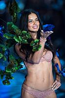 Adriana Lima on the runway during the 2015 New Yor
