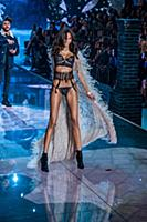 Izabel Goulart on the runway during the 2015 New Y