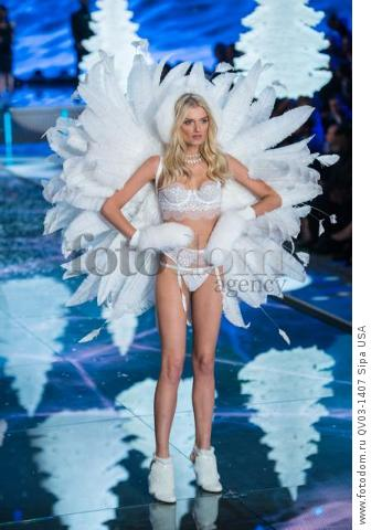 Lily Donaldson on the runway during the 2015 New York Victoria?s Secret Fashion Show held at the Lexington Armory in New York City on November 10, 2015. (Photo by Anthony Behar) *** Please Use Credit from Credit Field *** *** Please Use Credit from Credit Field ***