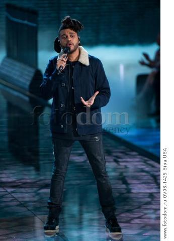 The Weeknd on the runway during the 2015 New York Victoria?s Secret Fashion Show held at the Lexington Armory in New York City on November 10, 2015. (Photo by Anthony Behar) *** Please Use Credit from Credit Field *** *** Please Use Credit from Credit Field ***