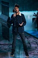 The Weeknd on the runway during the 2015 New York