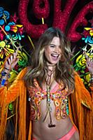 Behati Prinsloo on the runway during the 2015 New