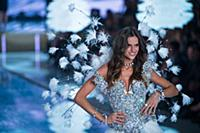 Isabel Goulart on the runway during the 2015 New Y