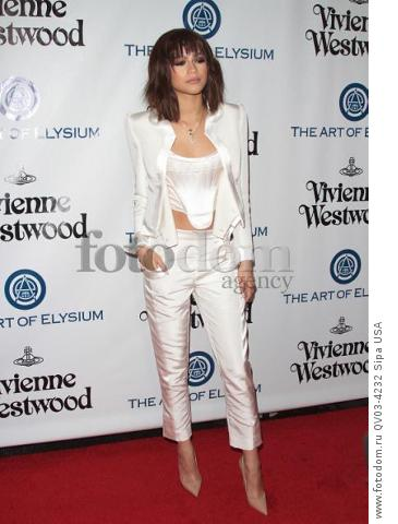 Zendaya attends tThe Art of Elysium's Ninth Annual Heaven Gala held at 3LABS in Los Angeles, CA on January 9th, 2016. (Photo by Adam Orchon) *** Please Use Credit from Credit Field ***