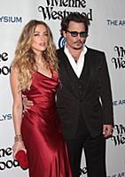Amber Heard, Johnny Depp attends tThe Art of Elysi