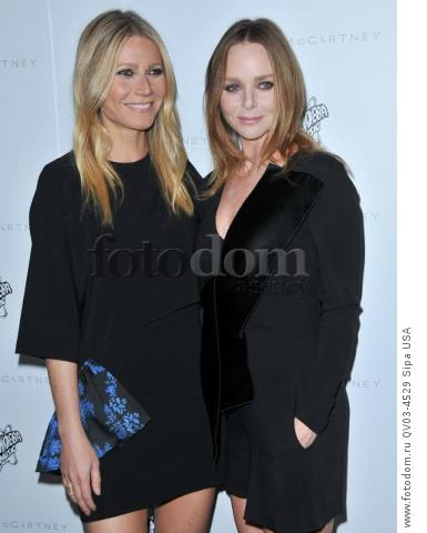 (L-R) Gwyneth Paltrow and Stella McCartney arrives at the Stella McCartney Autumn 2016 Presentation held at Amoeba Music in Los Angeles, CA on Tuesday, January 12, 2016. (Photo By Sthanlee B. Mirador) *** Please Use Credit from Credit Field ***