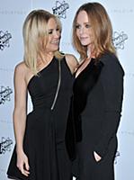 (L-R) Kate Hudson and Stella McCartney arrives at