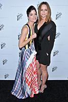 (L-R) Selma Blair and Stella McCartney arrives at