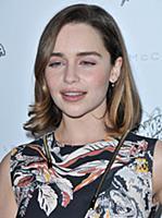 Emilia Clarke arrives at the Stella McCartney Autu