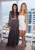 MIAMI BEACH, FL-JANUARY 27: Chanel Iman and Hannah