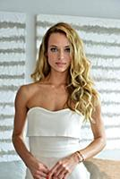 Hannah Ferguson attend the press conference to ann