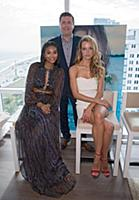 MIAMI BEACH, FL-JANUARY 27: Chanel Iman, Hannah Fe