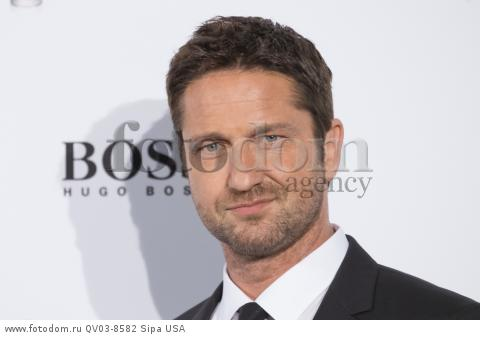 Gerald Buttler attend the Hugo Boss 'Man of today' photocall in Madrid, Spain on February 3, 2016. 