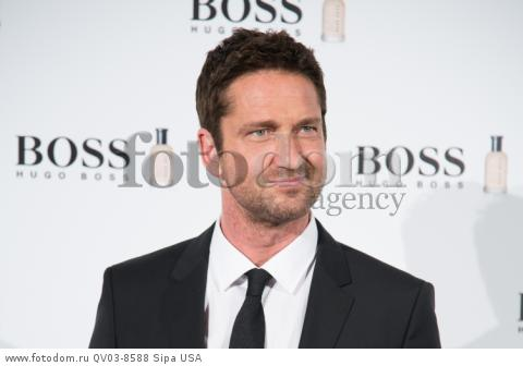 The actor Gerald Buttler attend the photocall of Hugo Boss 'MAN OF TODAY' at Eurobuilding Hotel in Madrid, Spain, on 3rd February 2016.