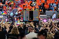 Chris Martin and Coldplay perform during the halft