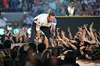 Coldplay band member Chris Martin performs during