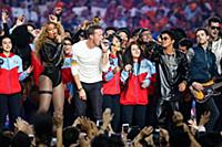 Beyonce, Chris Martin with Coldplay and Bruno Mars