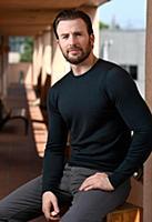 Актер Крис Эванс. Постановочная съемка.