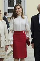 Королева Испании Летисия посещает мероприятие по случаю 10-летия  Microfinanzas BBVA Foundation, Мадрид