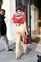 Bella Hadid out and about in Paris, France, on Jul