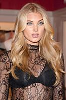 Victoria's Secret Angel Elsa Hosk celebrates the T
