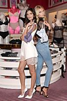 (L-R)  Victoria's Secret Angels Sara Sampaio and E