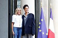 Брижит Макрон и Рианна в Париже