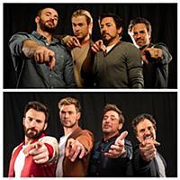 Фотосессия актеров фильма «Мстители:Финал»