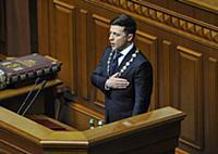 Церемония инаугурации президента Украины Владимира Зеленского. Киев, Украина.