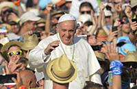 Папа Римский Франциск принимает немецких паломников