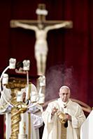 Папа Римский Франциск на церемонии канонизации. Ва
