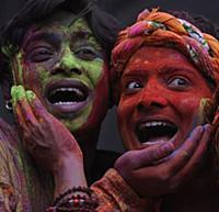 Индийский фестиваль красок Холи. Индия. 28 февраля