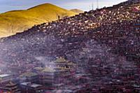 Домики буддийских монахов