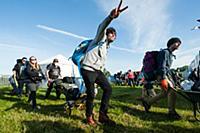 Первые зрители на фестивале Glastonbury