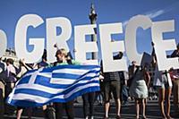 Лондонская демонстрация в знак солидарности с Грецией