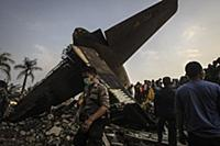В Индонезии разбился военный самолет