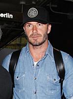 Дэвид Бекхэм в аэропорту Лос-Анджелеса