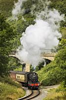 Ретро-паровоз путешествует по Северному Йоркширу