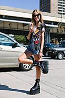 Стрит-стайл на Неделе моды в Нью-Йорке