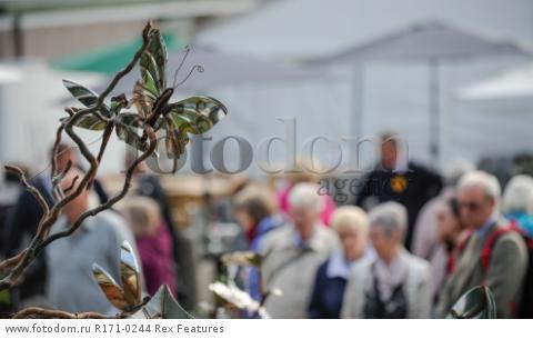 Mandatory Credit: Photo by Charlotte Graham/REX Shutterstock (5106761z) Visitors Shopping Harrogate Flower Show, Yorkshire, Britain - 18 Sep 2015